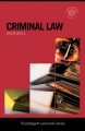 Criminal Lawcards 2010-2011 by Routledge