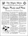 Magic Menu volume 3, number 15 by Jim Sisti
