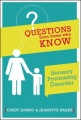 Questions from those who Know: Sensory Processing Disorder by Cindy M. Jusino & Jeanette Baker