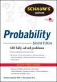 Schaum's Outline of Probability, Second Edition by Seymour Lipschutz & Marc Lipson