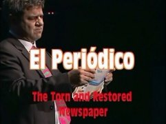 The Torn and Restored Newspaper by Antonio Romero