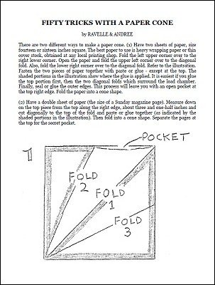 50 Tricks with a Paper Cone by Ravelle-Andree
