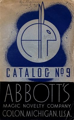 Abbott Magic Catalog #9 1947 by Percy Abbott