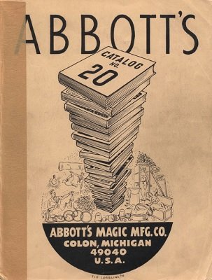 Abbott Magic Catalog #20 1972 by Recil Bordner