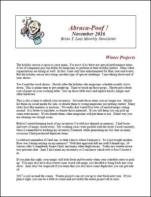 Abraca-Poof November 2016 by Brian T. Lees