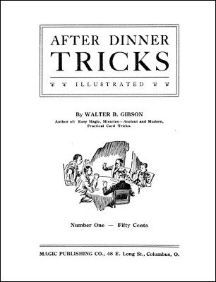 After Dinner Tricks by Walter Gibson