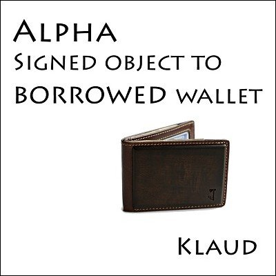 Alpha: signed object to borrowed wallet by Klaud
