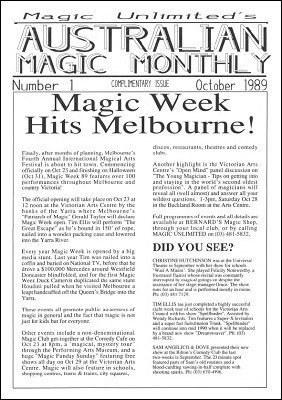 Australian Magic Monthly by Tim Ellis
