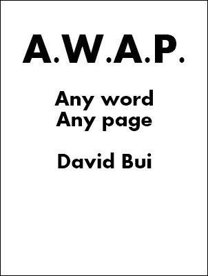 A.W.A.P. Book Test by David Bui