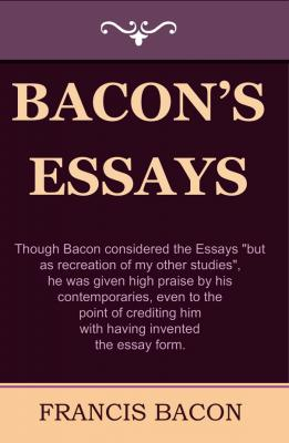 bacons essay of studies Sir francis bacon of studies studies serve: let's discuss of studies - francis bacon by luisina varela and patricia martino bacon's essays are the portrait.