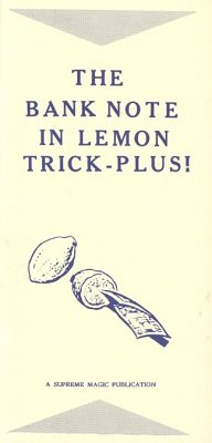 The Bank Note in Lemon Trick Plus by Edwin Hooper & Ian Adair