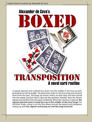 Boxed Transposition by Alexander de Cova