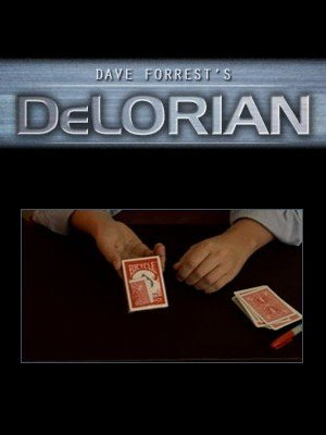 DeLorian: signed card under cellophane by Dave Forrest