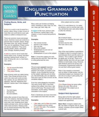 English Grammar And Punctuation (Speedy Study Guides) by Speedy Publishing
