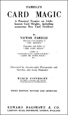 Farelli's Card Magic by Victor Farelli