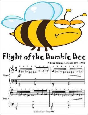 Flight of the Bumble Bee - Easy Piano Sheet Music Junior Edition by Silver Tonalities