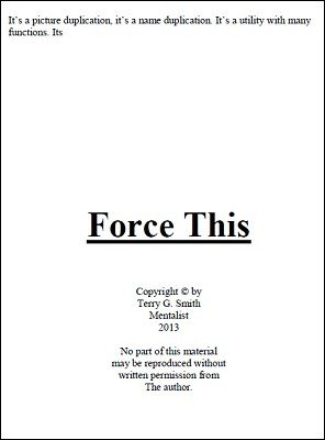 Force This by Terry G. Smith