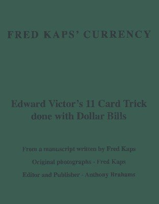 Fred Kaps' Currency by Fred Kaps
