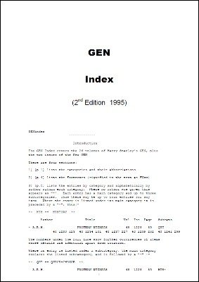 The Gen Index by Michael Colley