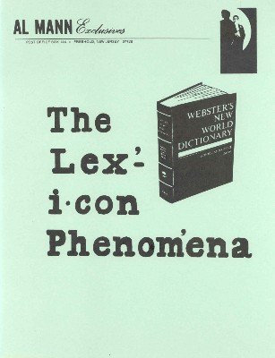 The Lexicon Phenomena by Al Mann