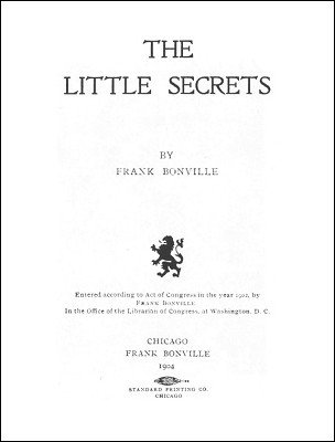 The Little Secrets by Frank Bonville