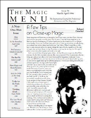 Magic Menu volume 6, number 34 by Jim Sisti