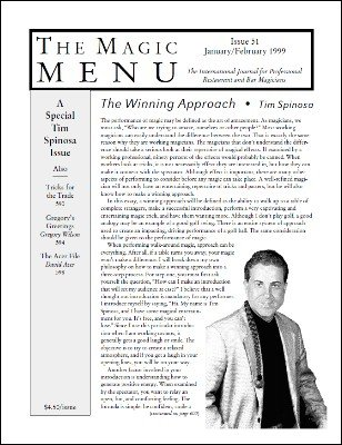 Magic Menu volume 9, number 51 by Jim Sisti