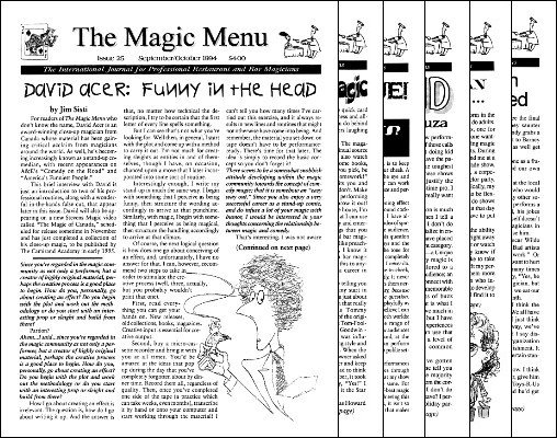Magic Menu volume 5 (Sep 1994 - Aug 1995) by Jim Sisti