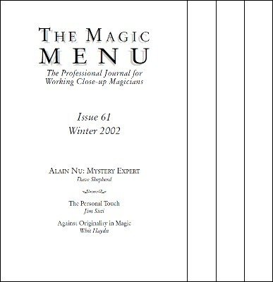 Magic Menu volume 11 by Jim Sisti
