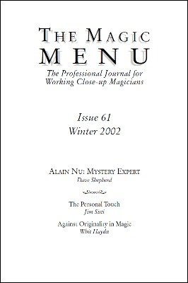Magic Menu volume 11, number 61 by Jim Sisti