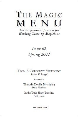 Magic Menu volume 11, number 62 by Jim Sisti