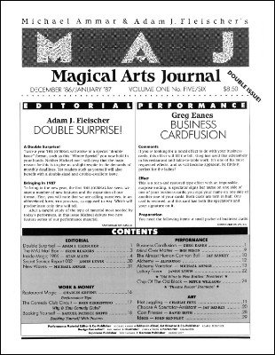 Magical Arts Journal Volume 1 Issue 5 and 6 by Michael Ammar & Adam J. Fleischer