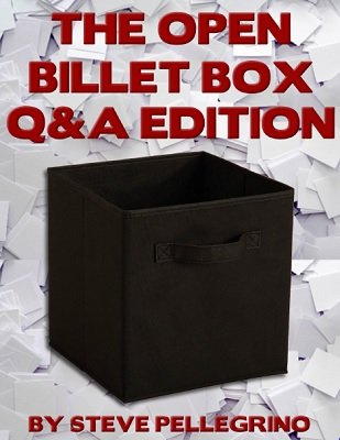 The Open Billet Box: Q&A Edition by Steve Pellegrino