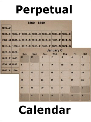 Perpetual Calendar for your iPod/iPhone/PDA/cell-phone by Scott Cram