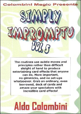 Simply Impromptu Volume 5 by Aldo Colombini