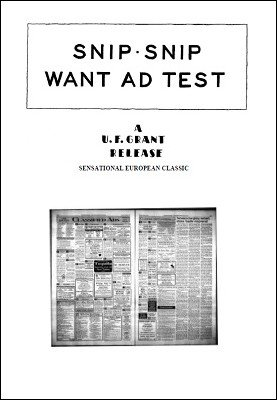 Snip-Snip Want Ad Test by Ulysses Frederick Grant