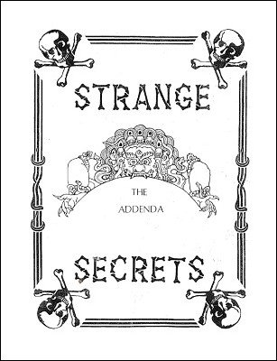 Strange Secrets Addenda by Gordon Miller