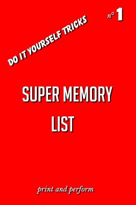 Super Memory List: print and perform 1 by George Marchese