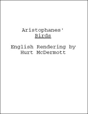 Aristophanes' Birds by Hurt McDermott