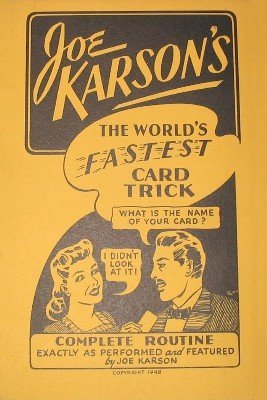 The World's Fastest Card Trick by Joe Karson