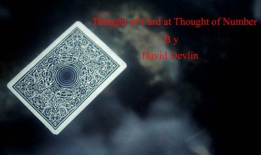 Thought of Card at Thought of Number by David Devlin