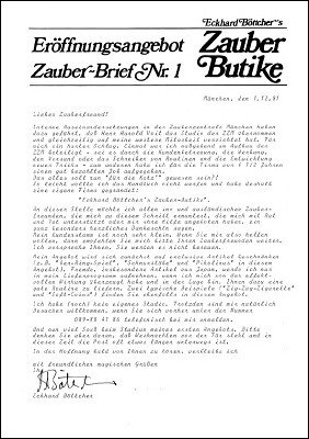Zauber-Brief Nr. 1-10 by Eckhard Böttcher